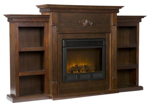 Electric Fireplace with Bookcase