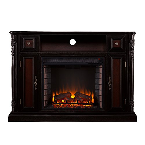 Electric Fireplace in Dark Antique Finish