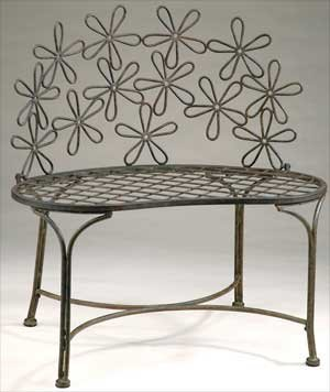 Cute Metal Daisy Bench