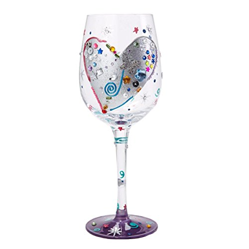 Heart Painted Wine Glass