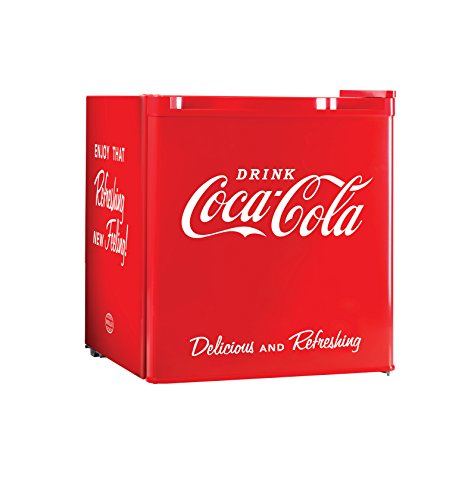 Cute Red Coca-Cola 1.7 Cubic Foot Mini Fridge