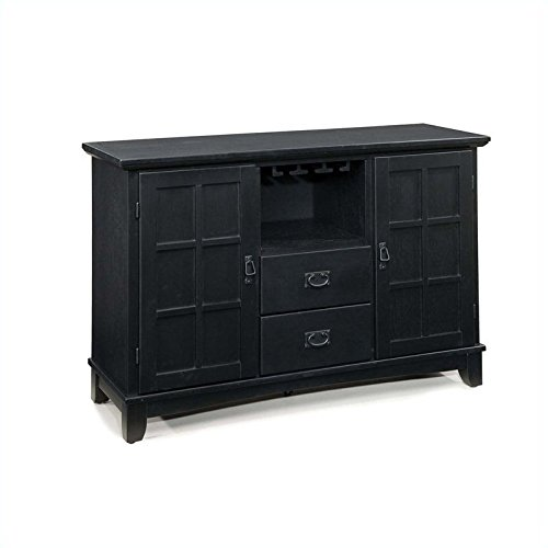 Solid Hardwood Dining Buffet, Black Finish