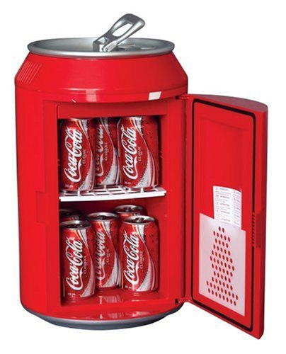 Cool Coca-Cola Can-Shaped 8-Can-Capacity Fridge, Red