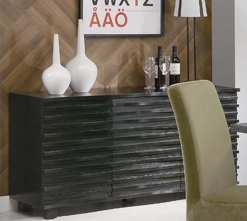 Very Stylish Contemporary Buffet Server in Black Finish