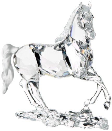 Clear Swarovski Crystal Stallion Horse Figurine