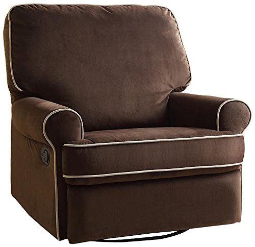 Swivel Glider Recliner, Coffee Color