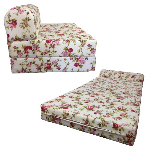 Cute Floral Chair Bed for Girls