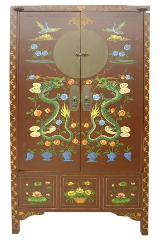 Large Chinese Antique Reproduction Cabinet Armoire