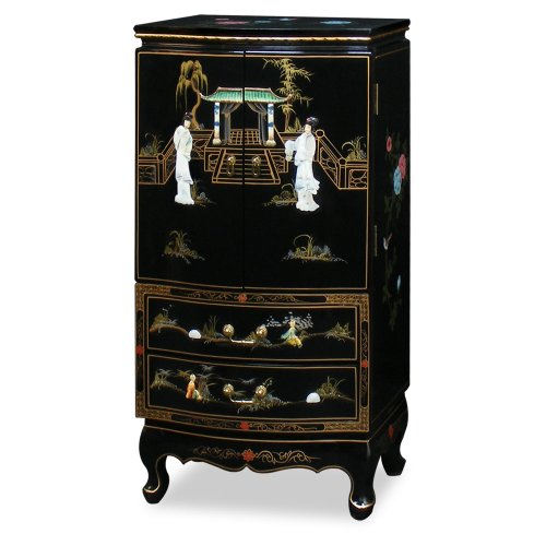 Beautiful Chinese Style Jewelry Armoire