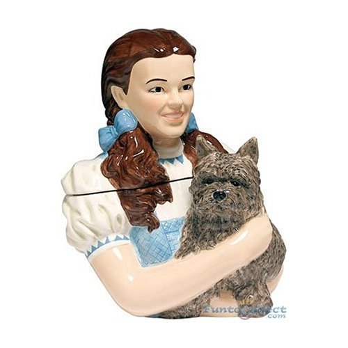 Wizard of Oz Dorothy and Toto Bust Cookie Jar