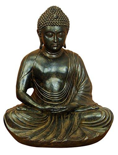 Meditating Black Buddha Statue