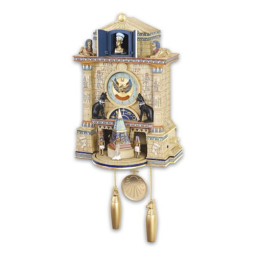 Treasures Of Ancient Egypt Cuckoo Clock by The Bradford Exchange