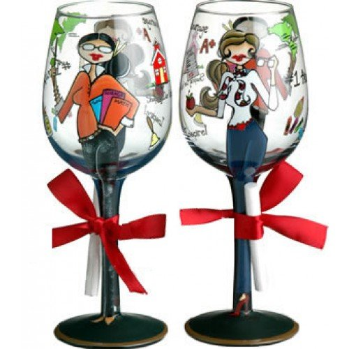 Shaping Our Future Handpainted Wine Glass