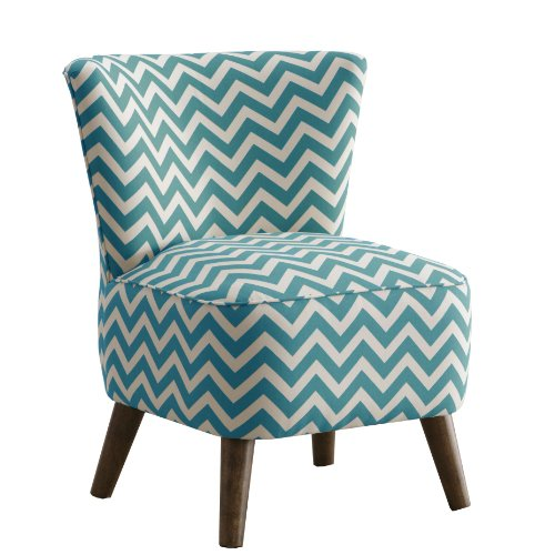 Beautiful Modern Chair in Zig Zag Turquoise