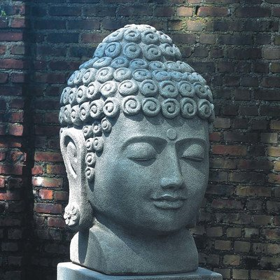 Temple Buddha Head