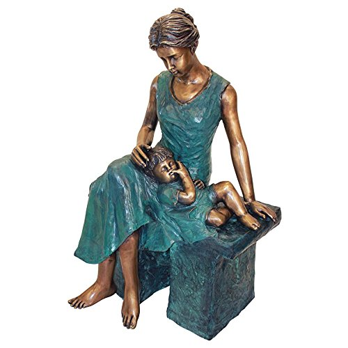 Beautiful Mother and Son Cast Bronze Statue