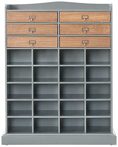 Large Shoe Cubby Organizer with Drawers
