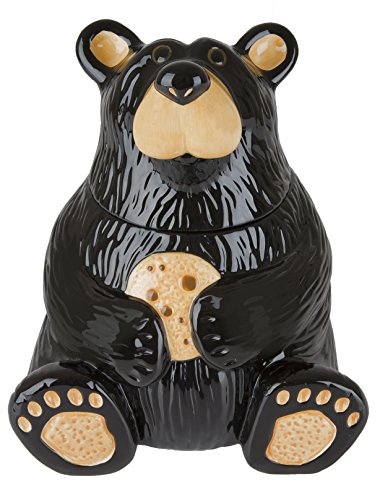 Cute Black Bear Cookie Jar