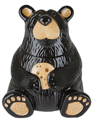 Cute Black Bear Cookie Jar