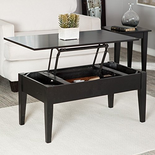 Black Wood Lift Top Coffee Table