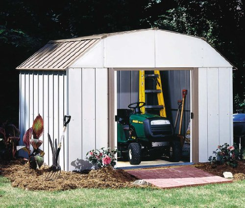 10-Feet by 8-Feet Steel Storage Shed