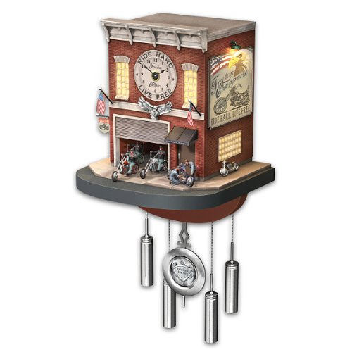 Motorcycle Garage Cuckoo Clock