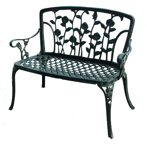 Cute Flower Metal Bench for Gardens