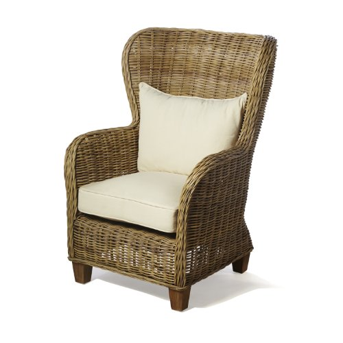 Natural Rattan King Arm Chair