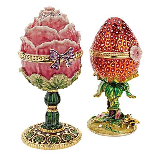 Gorgeous Faberge Style Enameled Eggs