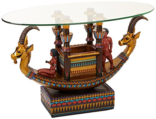 Egyptian Barge to the Beyond Glass Topped Sculptural Table