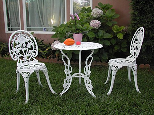 Cute White Bistro Set