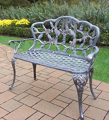 Cute Bird Design Outdoor Metal Bench