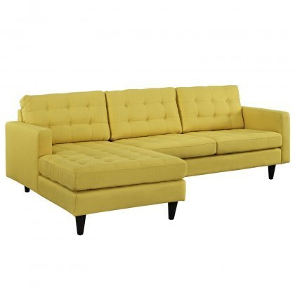 Yellow Left-Arm Sectional Sofa