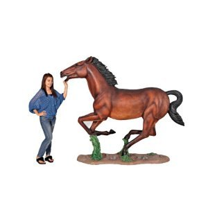 Galloping Quarter Horse Filly Statue