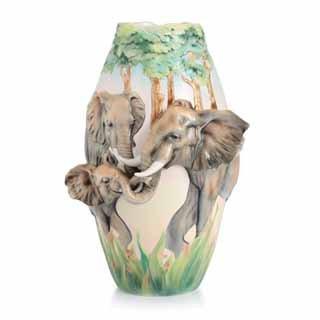 Elephants Vase