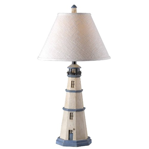 Antique White Lighthouse Table Lamp