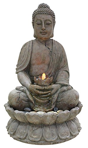 Buddha Water Feature with LED Light