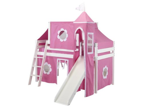 Pink Loft Castle Bed for Girls