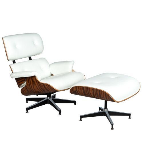 WHITE Premium Leather Chair for Home