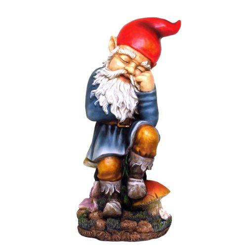 Sleeping Garden Gnome Statue