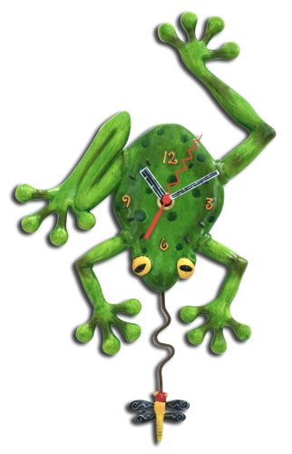 Frog Shaped Wall Clock
