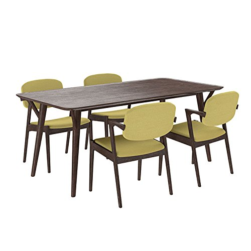 Vintage Waknut Green Dining Table Set
