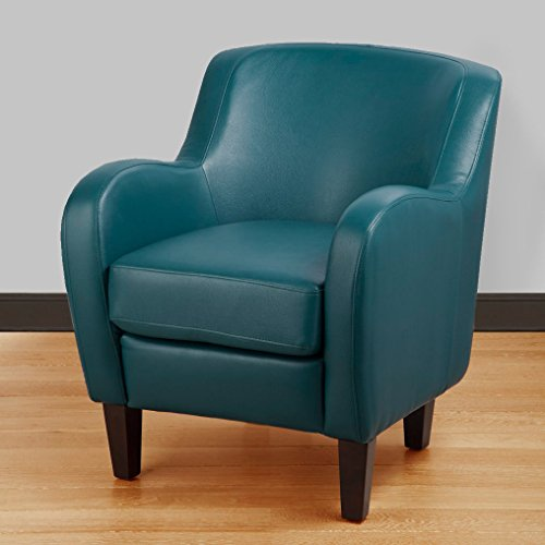 Turquoise Bonded Leather Tub Chair