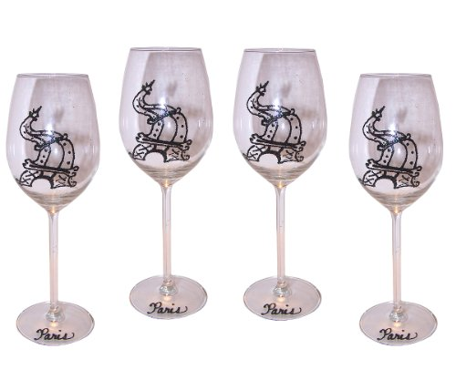 Eiffel Tower Wine Glasses
