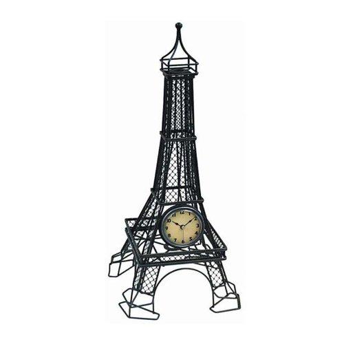 Eiffel Tower Metal Table Clock