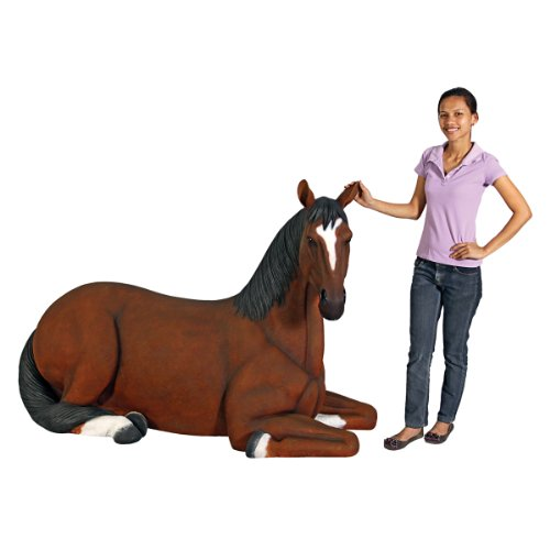 Resting Life-Size Quarter Horse Filly Statue