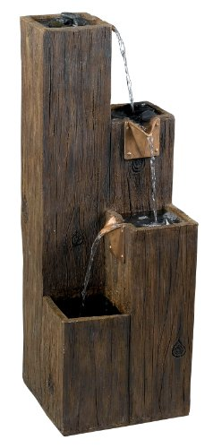 Tiered Wooden Water Fountain for Home