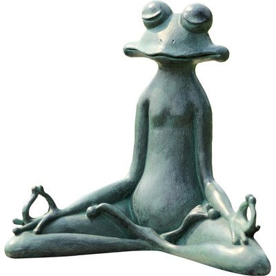 Cool Yoga Frog Garden Sculpture