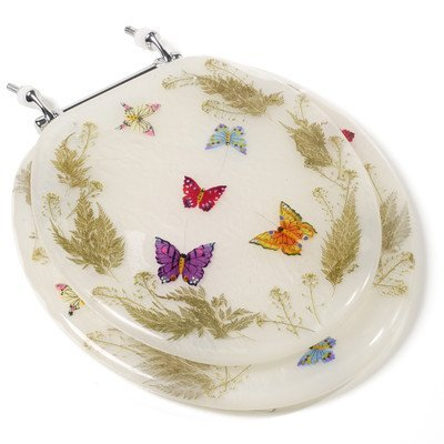 Cute Butterfly Design Acrylic Toilet Seat