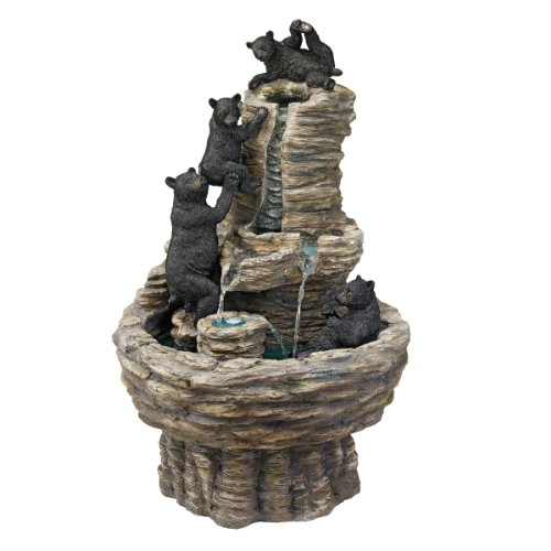 Cute Bears Climbing Fountain for Home